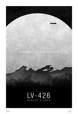 This is one of the best movie posters I have seen so far, love the silhouette of the both the Alien vessel and the Colonial Marine ship in orbit. WANT!!!!