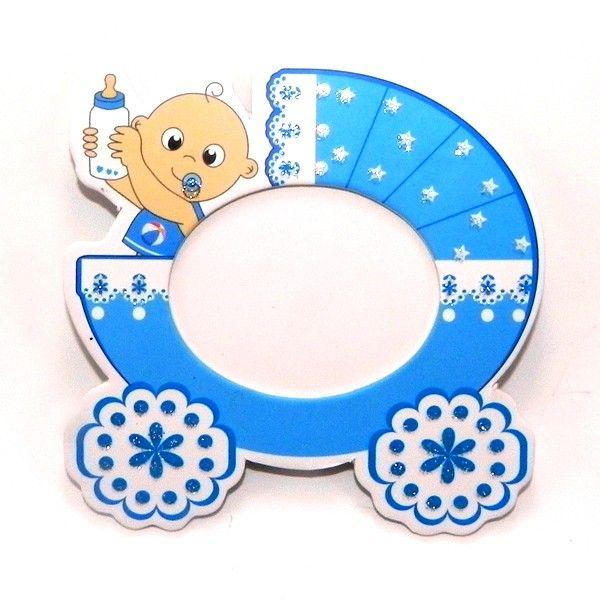Puset temalı bebek çerçevesi mavi - birmax