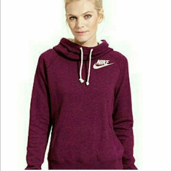 Cowl neck hoodie Maroon cowl neck hoodie. Excellent condition Nike Sweaters Cowl & Turtlenecks