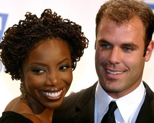 Love her hair: Heather Headley and Brian Musso (NY Jets)  20 Hot White Guys Who Love Black Women! | StyleBlazer