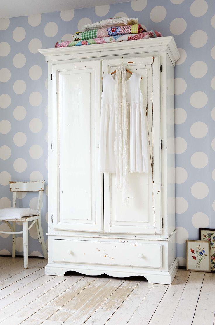 'Dots Blue' Wallpaper Design 2000140 (10 metres x 53cms) #Paper Moon #Wallpaper #Coordonne #Room Seven #Dots