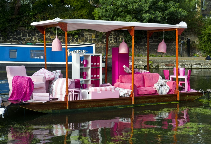 Our pink boat contains a selection of products from the new IKEA seasonal collection in shades of girly pink and cerise. Click on the photo to find out more!