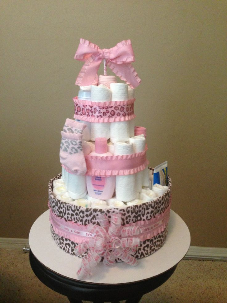 9 best diaper cakes images on pinterest shower ideas baby diaper cheetah print diaper cake reheart Choice Image