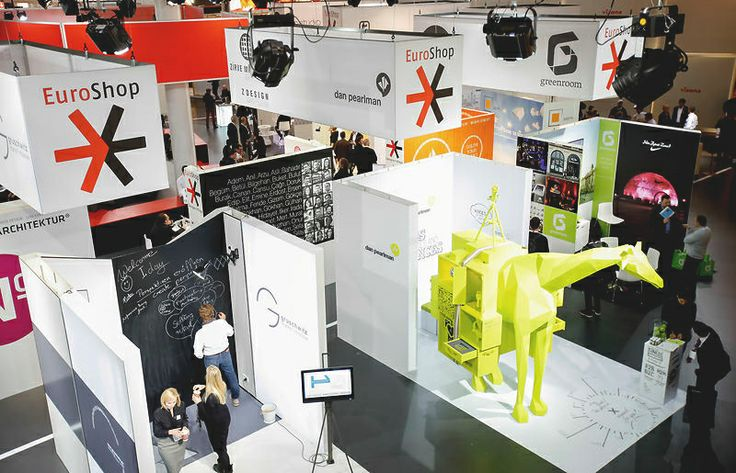 A green giraffe at #EuroShop 2014? Find out more in the Designer Village in hall 12!