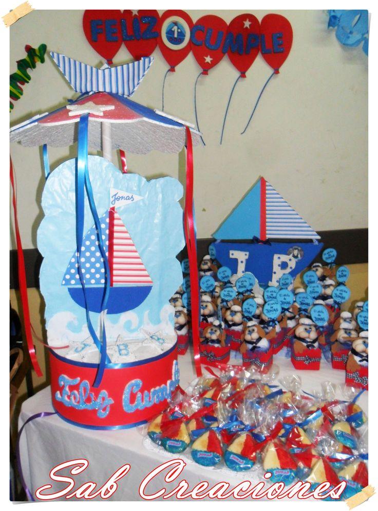 Piñata + galletas + souveniles nautico