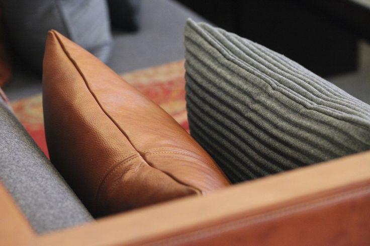burnt orange | grey | leather | flannel | paisley