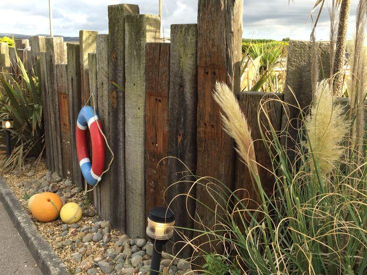 Sleeper coastal style fencing