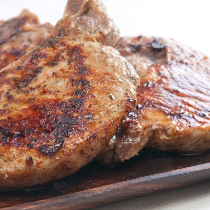 Spice-Rubbed Grilled Pork Chops - quite possibly the best pork chop I've had. Skipped the sugar