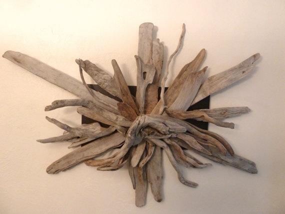 Driftwood wall art craft ideas pinterest for Driftwood wall decor