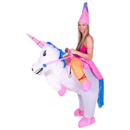 Lyjenny Inflatable Unicorn Costumes Inflatable Princess Pegasus Outfit Suit Party Fancy Dress Halloween Costume for Kids Women Men Adult