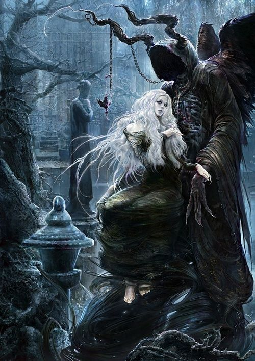 A very dark piece of the death and the maiden the way it's made to look more like beauty and the beast makes it very enchanting yet dark ridden..