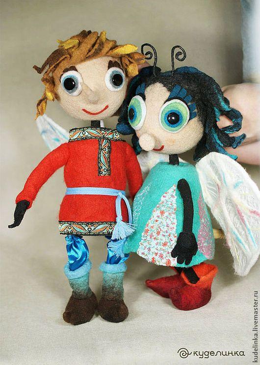 Кукольный театр ручной работы. Ярмарка Мастеров - ручная работа. Купить Муха-цокотуха и Комар. Театральные планшетные куклы. Кукольный театр. Handmade.