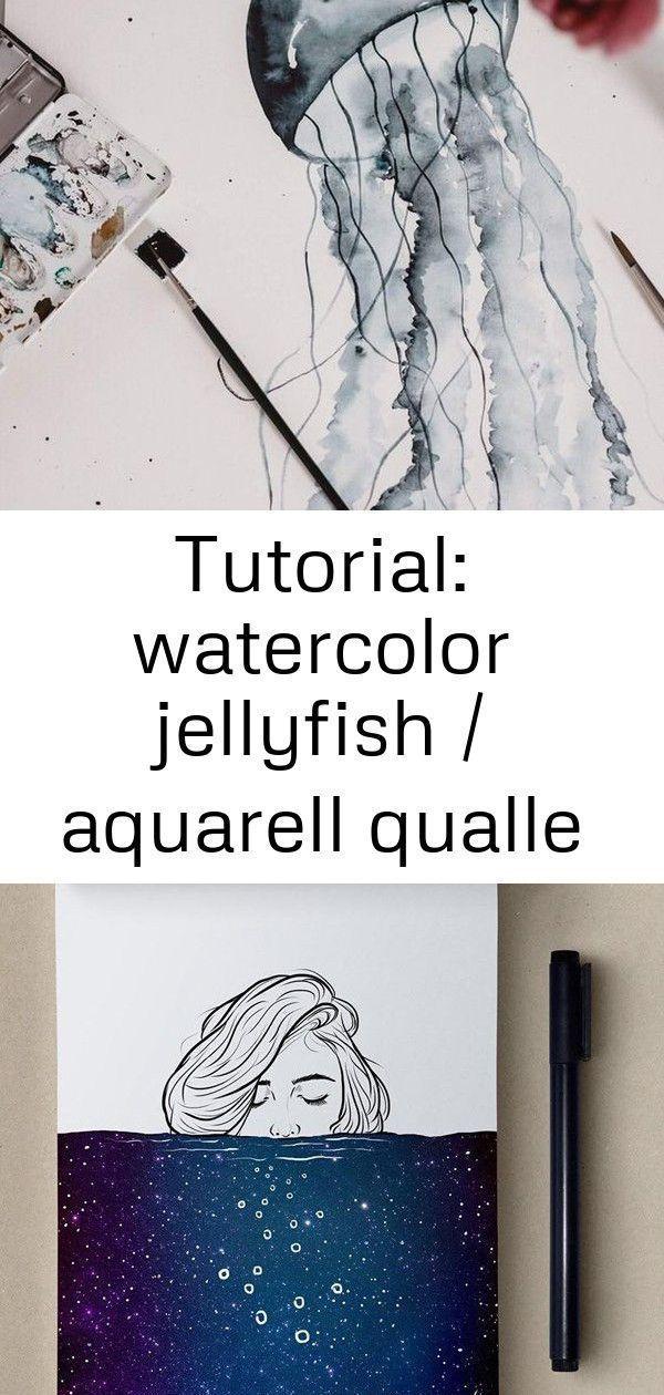 Tutorial Watercolor Jellyfish Watercolor Jellyfish Painting For