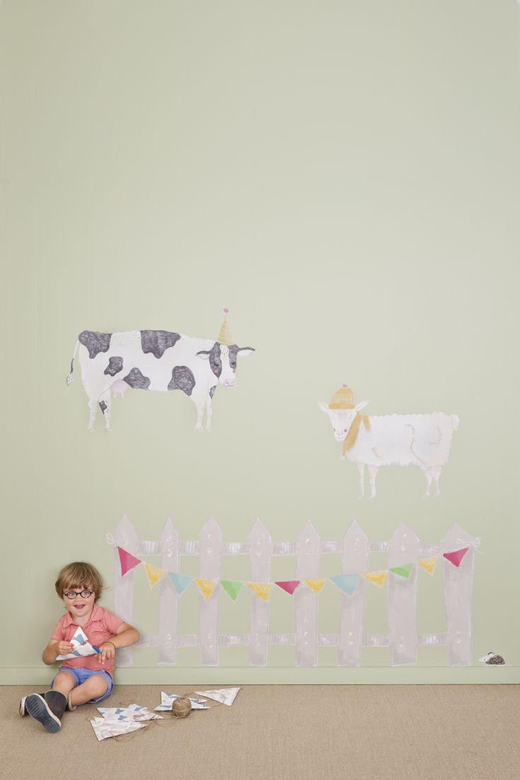 18 best we are colour wall art muurstickers images on pinterest wall art muurstickers op de boerderij hek l koe s schaap s amipublicfo Images