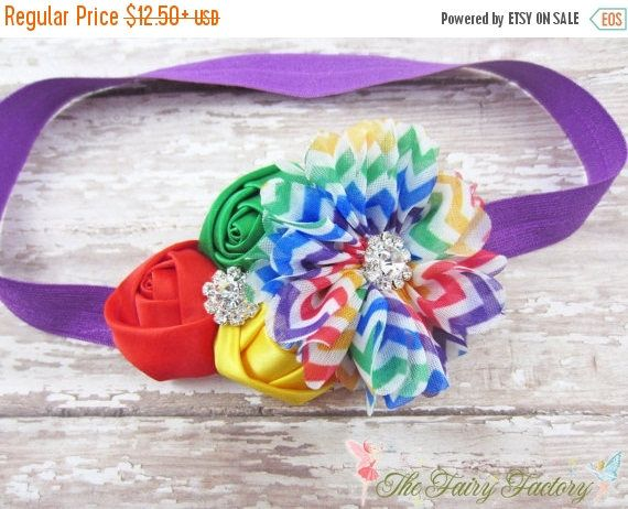 Baby Headband Circus Headband Chevron Rainbow Headband