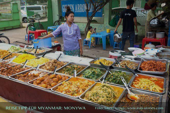 Reisetipp für Myanmar (Burma) und Monywa: Hotels, Preise und Anfahrt | Nachtmarkt am Uhrturm
