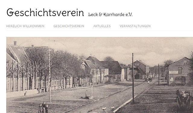 Geschichtsverein Leck und Karrharde e. V. - Der Geschichtsverein Leck und Karrharde e.V. urde im Juni 2015 auf Initiative der beiden Lecker Geschichtsinteressierten Manfred Clausen und Hans-Wilhelm Sievers gegründet.