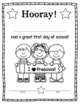 Here is a certificate to send home with your students on the first day of school.  As a parent, I was always excited to see what my child brought home on that special day to share.  This can spark a conversation about first day activities!           Certificates included for the following grades: Preschool, Kindergarten, First Grade, Second Grade****UPDATED on July 21:  Added Pre-K****UPDATED on Aug. 3: Added TK (Transitional Kindergarten in California)