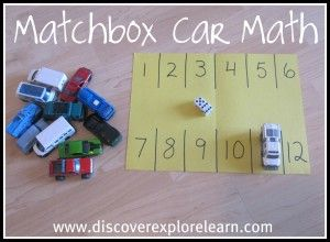 So simple and probably at least 20min of entertainment. Roll two dice, find total, park car in corresponding space