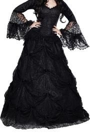 Jovana Black Gothic Skirt by Sinister
