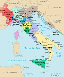 Savoy - Wikipedia Duchy of Savoy (red) and other Italian states in 1494.