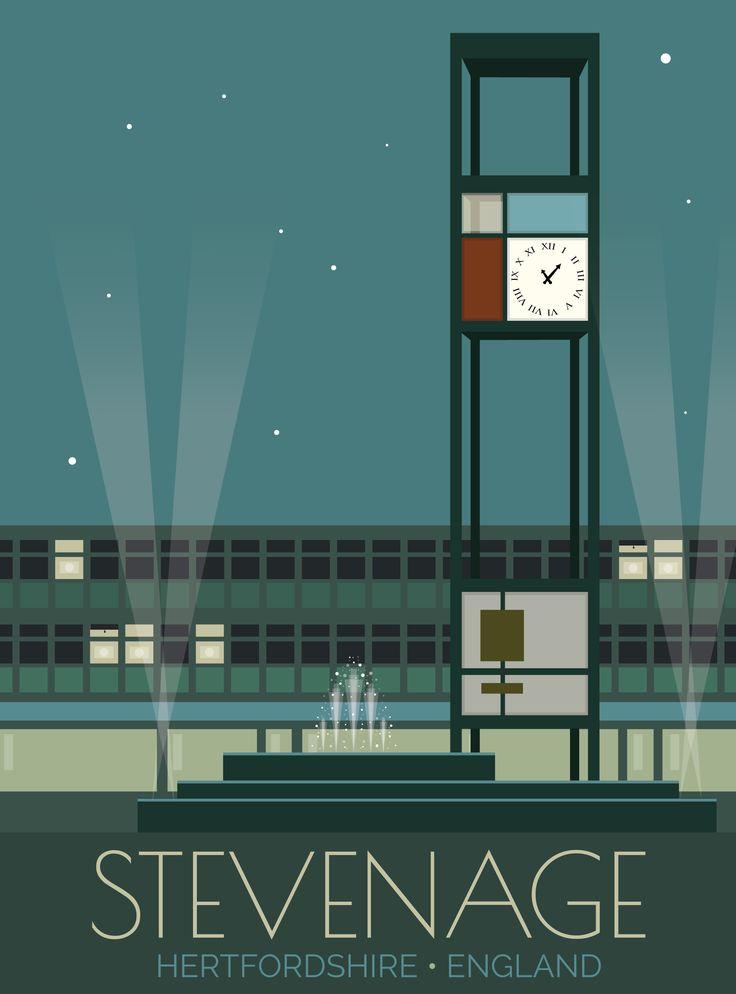 Stevenage, Hertfordshire, England – Travel Poster