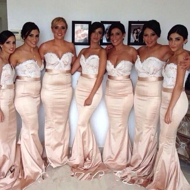 >> Click to Buy << elegant lace mermaid Bridesmaid Dresses 2015 Sweetheart sleeveless 2016 Long Bridesmaids Dress for wedding party gown #Affiliate