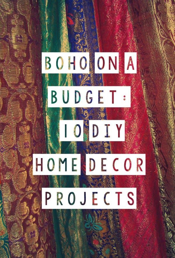 Boho on a Budget: 10 #DIY #Home #Decor Projects DIY bohemian