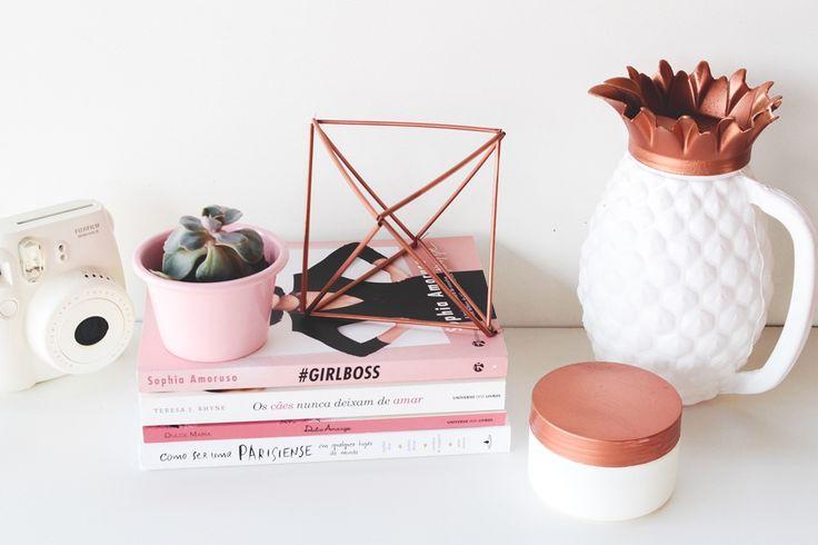Saiba onde comprar itens de decoração com as cores desejo do momento: cobre e rose gold e deixe sua casa ainda mais linda!