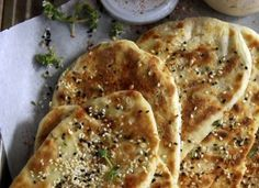 Greek pie with yogurt and sesame