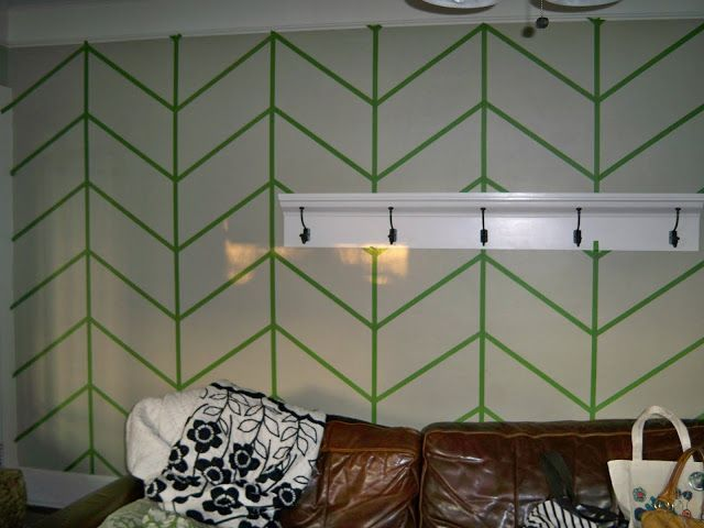 Easter Avenue Company: How To Paint Chevron Stripes