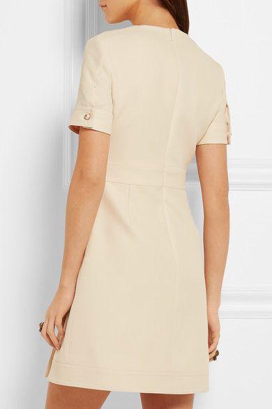 Gucci - Faux Pearl-embellished Wool And Silk-blend Mini Dress - Cream - IT