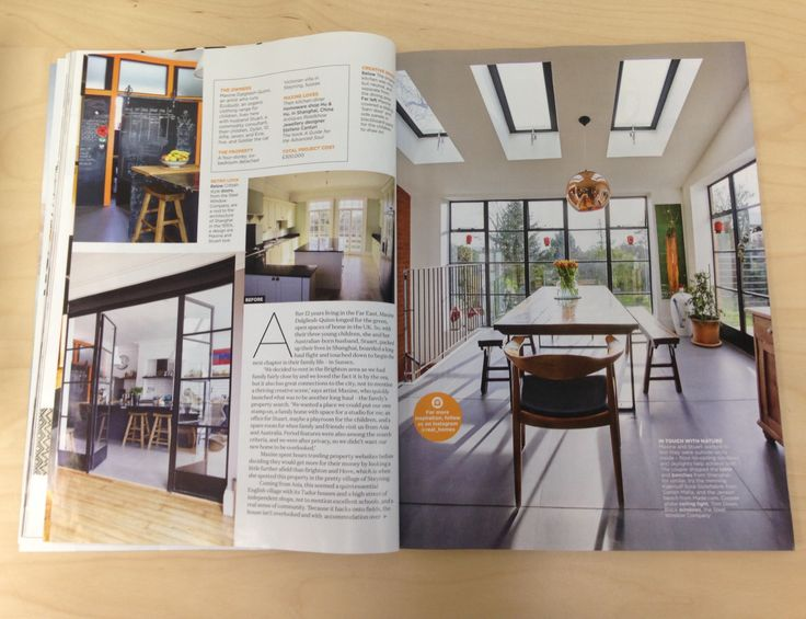 case study feature in Real Homes magazine | Fabco Sanctuary & The Steel Window Company