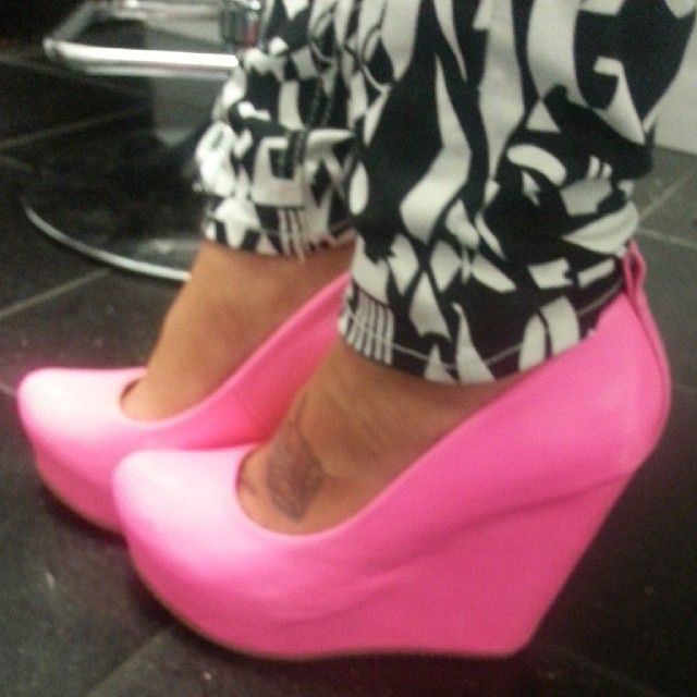 Hot Pink Wedges