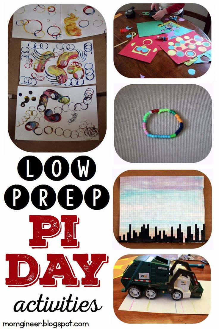 Pi Day Activities: Low prep Pi Day Fun! Circle art, circumference activity, bracelet, & more! | momgineer