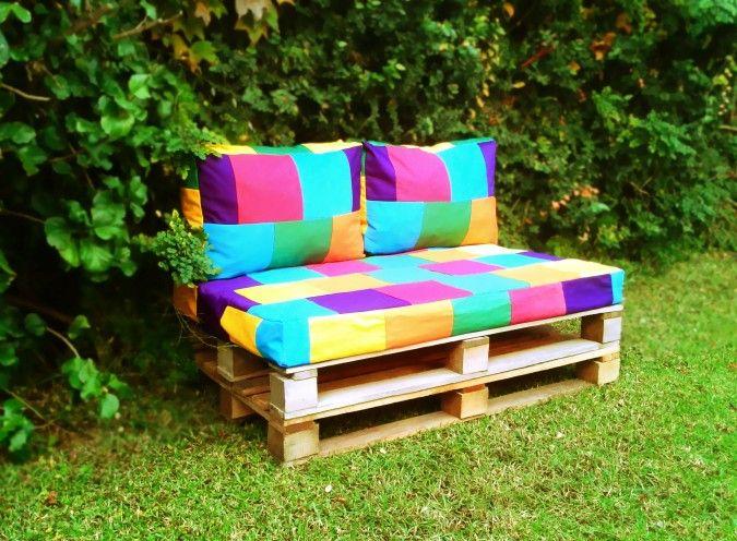 Almohadones base  sillon de pallets | Misuta | Feria Central