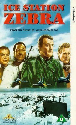Ice Station Zebra (1968)   Directed by John Sturges.  With Rock Hudson, Ernest Borgnine, Patrick McGoohan, Jim Brown. Commander James Ferraday, USN, has new orders: get David Jones, a British civilian, Captain Anders, a tough Marine with a platoon of troops, Boris Vasilov, a friendly Russian, and the crew of the nuclear sub USS Tigerfish to the North Pole to rescue the crew of Drift Ice Station Zebra, a weather station at the top of the world. The mission takes on new and dangerous twists.