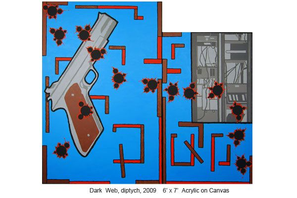 Derek Boshier, Dark Web Paintings 2009