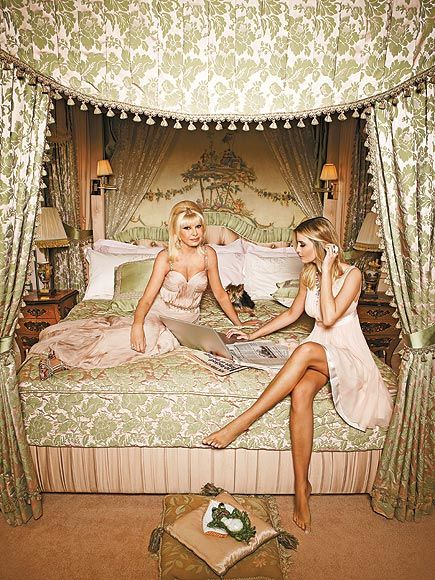 """We are very close. We are like sisters,"" says Ivana (lounging in the master bedroom) of her relationship with daughter ..."