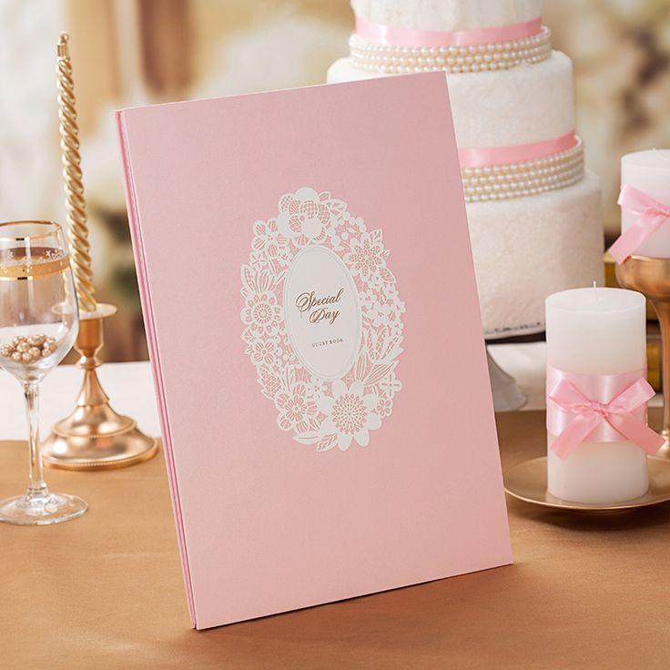 Розовый свадебная гостевая книга продукты свадебных подарков книги фингерпринта список отпечатков пальцев свадебный гостевая книга