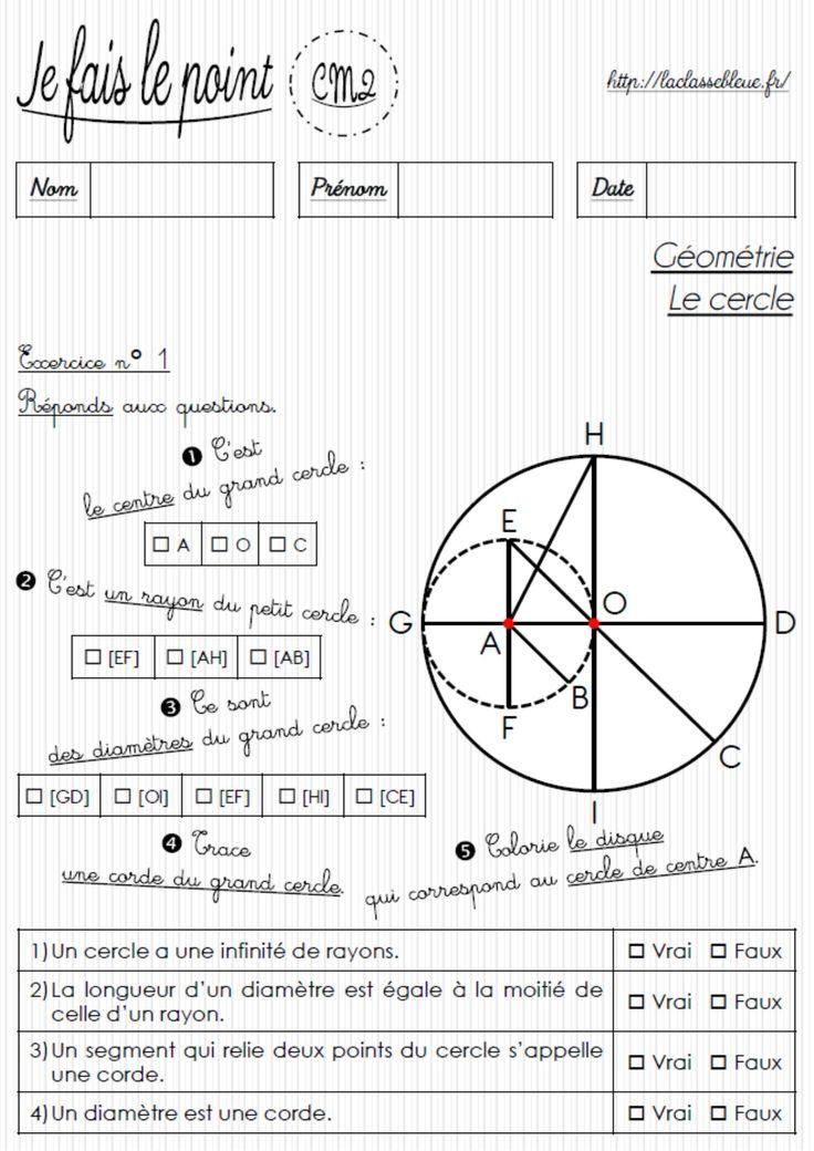 laclassebleue - CM-Géométrie-Les évaluations | Evaluation ...