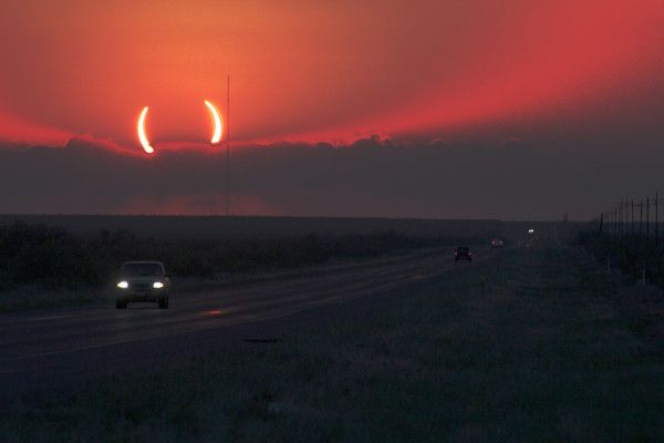 Annular Eclipse Photo: 'I'm sorry to inform you that Earth is about to be been eaten by a fire demon.' by Ben Brockert via Twitpic