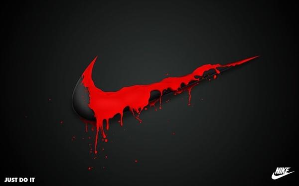 nike logo red paint swoosh nike pinterest logos. Black Bedroom Furniture Sets. Home Design Ideas