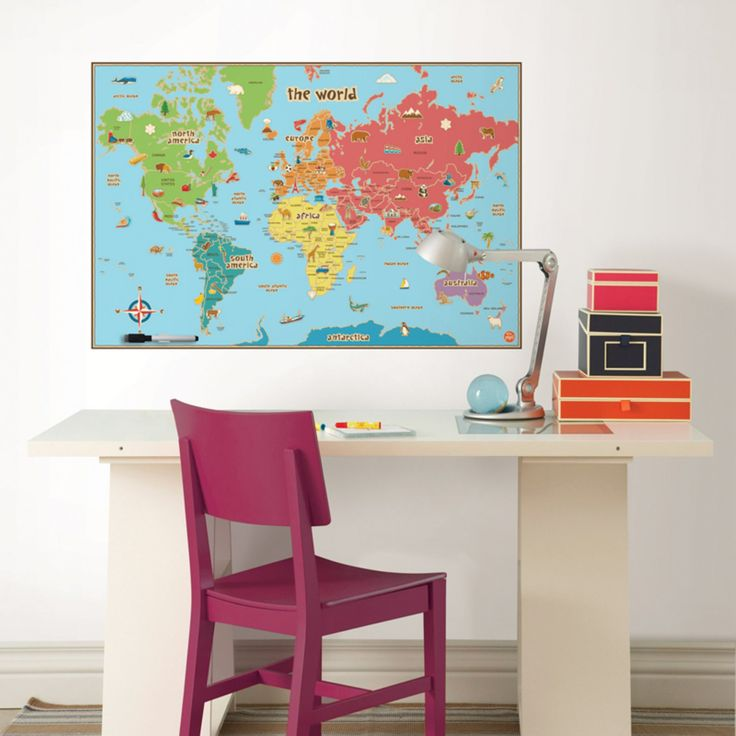 Best 25 kids world map ideas on pinterest world map for Dry erase world map wall mural