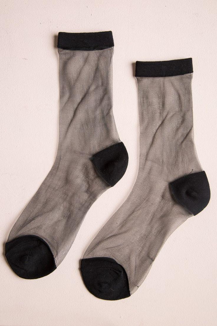 Brandy ♥ Melville | Sheer Black Socks - Accessories