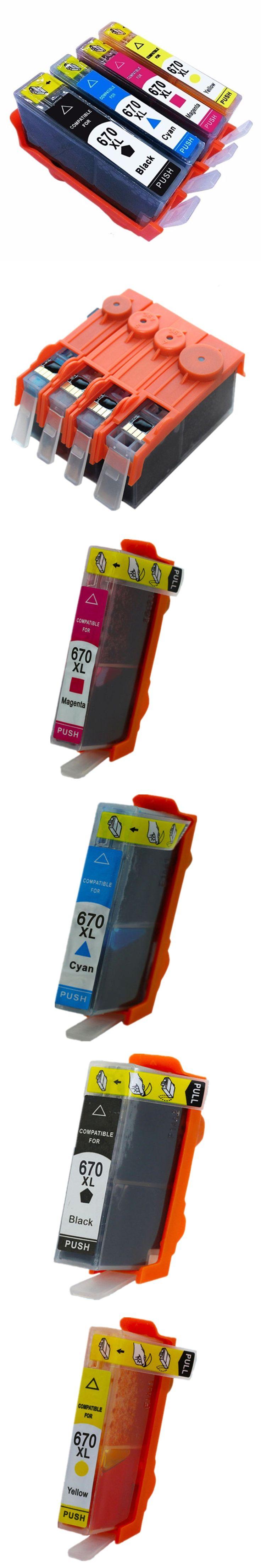 1Set 4Pk Inkjet Ink Cartridges For HP HP670 670 XL 670XL HP670XL CZ117AL Deskjet Advantage 3525 4615 4625 5525 6520 6525 Printer