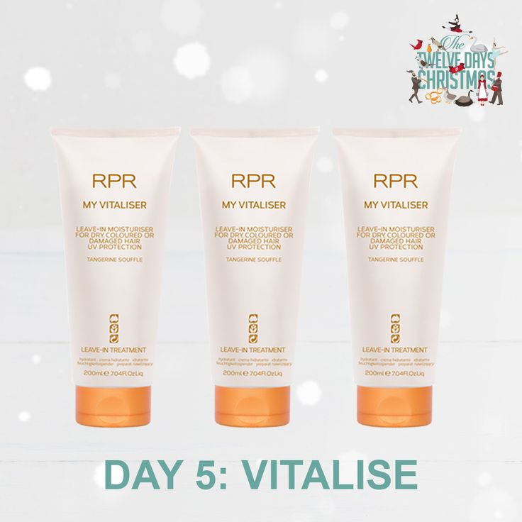 DAY 5: VITALISE. Pump new life and vitality into your hair this silly season with our popular leave-in moisturiser. Perfect for dry, coloured or damaged hair.