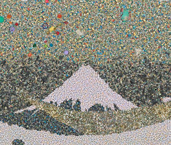 plastic pollution art chris jordan