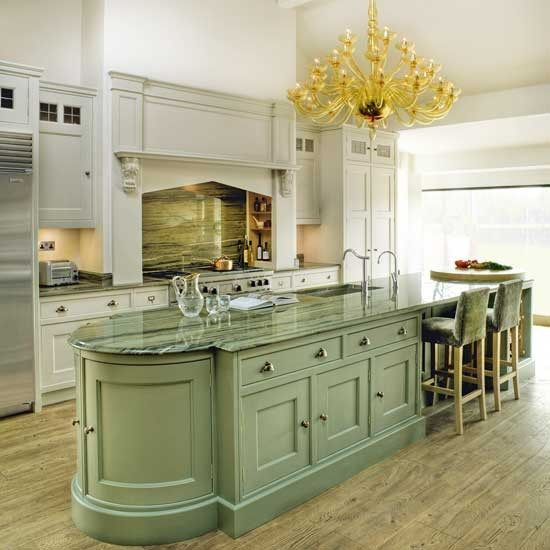 Green Kitchen Units Sage Green Paint Colors For Kitchen: Kitchen Green Island Traditional Kitchens Ideas Kitchens