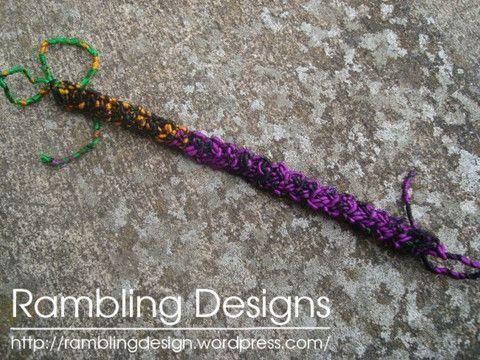 Crochet Braids Video Download : Crochet Braid Bracelet - Digital Download Sari Silk yarn ...